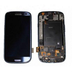LCD (Дисплей) Samsung i9300 Galaxy S3 (в сборе с тачскрином) (в раме) (blue) Оригинал