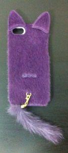 Накладка Apple iPhone 5/5S Кошка (purple)