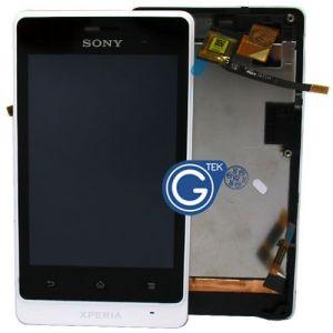 LCD (Дисплей) Sony ST27i Xperia Go (в сборе с тачскрином) (в раме) (white) Оригинал