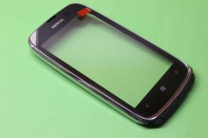 Тачскрин Nokia 610 Lumia (в раме) (silver) Оригинал