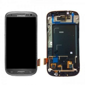 LCD (Дисплей) Samsung i9300 Galaxy S3 (в сборе с тачскрином) (в раме) (grey) Оригинал