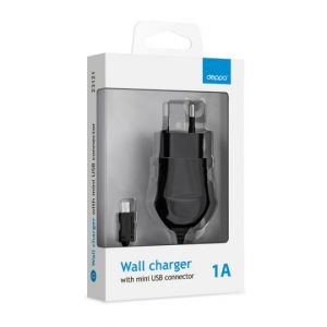Сетевое зарядное устройство Deppa mini USB (1 A)