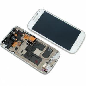 LCD (Дисплей) Samsung i9190 Galaxy S4 mini/i9192 Galaxy S4 mini Duos/i9195 Galaxy S4 mini (в сборе с тачскрином) (в раме) (white) Оригинал