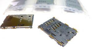 Разъём Samsung B7722/i5700 Galaxy Spica/i5800 Galaxy 580/P1000 Galaxy Tab/P3100 Galaxy Tab 2 7.0/P6200 Galaxy Tab 7.0 Plus/P7500 Galaxy Tab 10.1/S3370/S5250 Wave 525/S5560/S5570 Galaxy Mini/S5620/S5660 Galaxy Gio/S5670 Galaxy Fit (sim-карты) Оригинал
