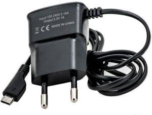 Сетевое зарядное устройство micro USB (1 A) (black)