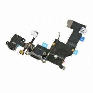 FLC (Шлейф) Apple iPhone 5C (на системный разъём, разъём гарнитуры, микрофон и антенну) (black) Оригинал