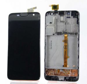 LCD (Дисплей) Alcatel 6012D Idol Mini/6012X Idol Mini (в сборе с тачскрином) (в раме) (black) Оригинал
