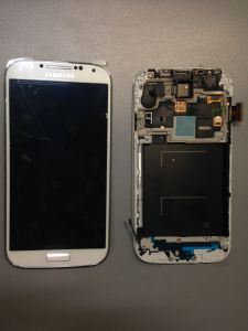 LCD (Дисплей) Samsung i9500 Galaxy S4 (в сборе с тачскрином) (white) Оригинал