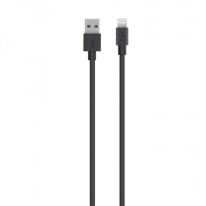 Кабель USB Belkin Apple iPhone 5/5C/5S/5/6/6 Plus/iPad 4/mini/iPod Touch 5/Nano 7 (1,2 метра) (black)