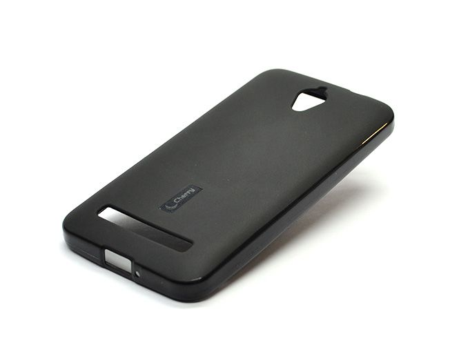 Накладка Cherry Asus Zenfon C (ZC451CG) Силикон (black) + защитная плёнка